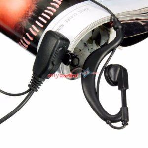 motorola lapel mic. 2 pin m-type g shape ptt mic headset for motorola two way radio lapel p