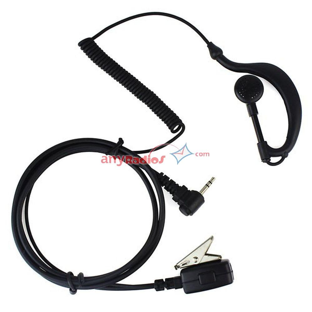 1 Pin Ptt Mic Headset For Motorola Walkie Talkie Walkie
