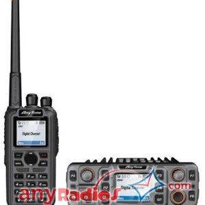 Anytone AT-D868UV dual-band VHF UHF DMR Portable and AT-D868S Mono-Band DMR MobileRadio