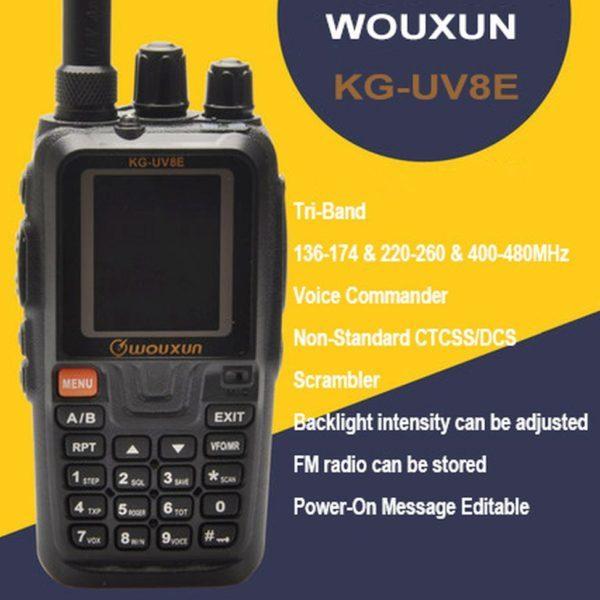 Wouxun KG-UV8E Tri Band Transceiver