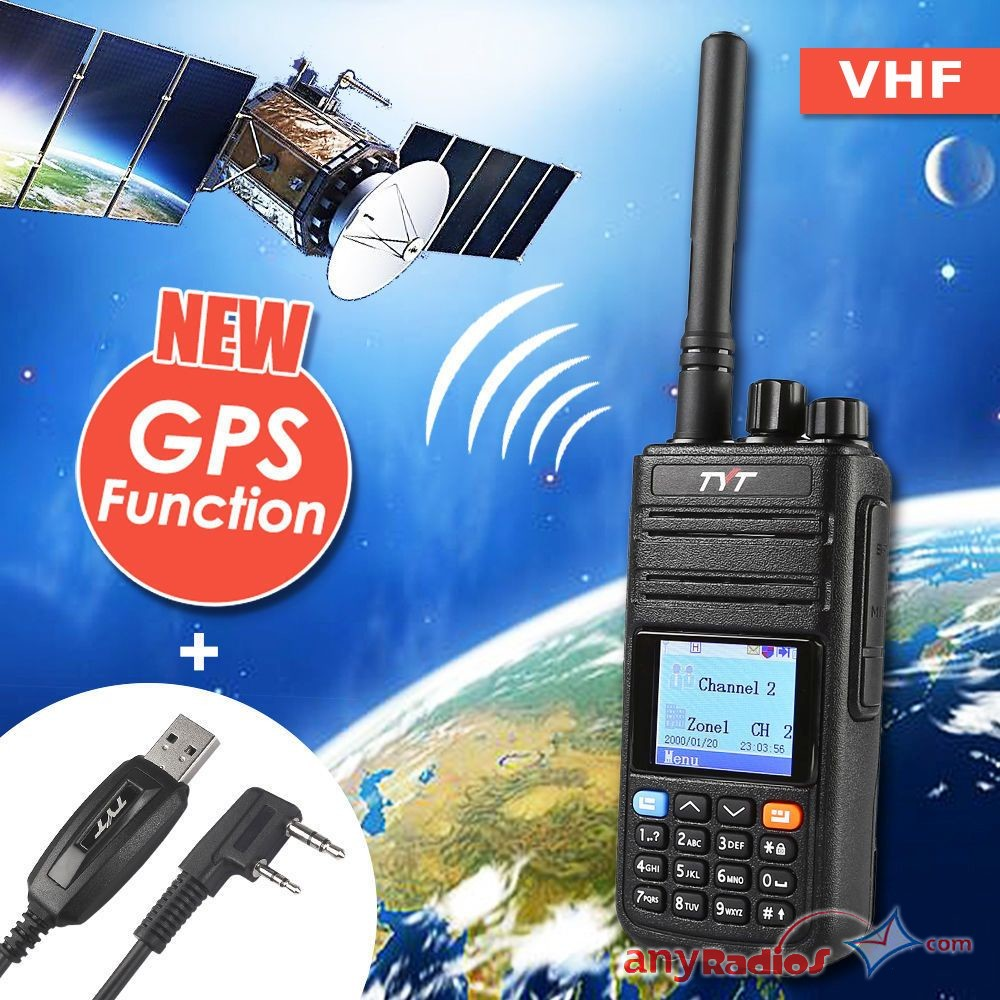 TYT MD-380G GPS VHF 136-174MHz DMR Walkie Talkie