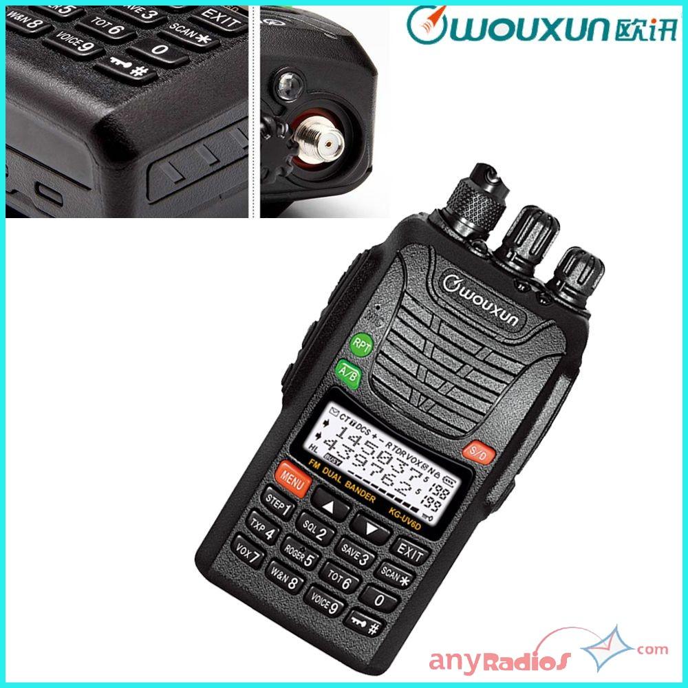 Wouxun Kg Uv6d Dual Band Long Range Ip55 Walkie Talkie