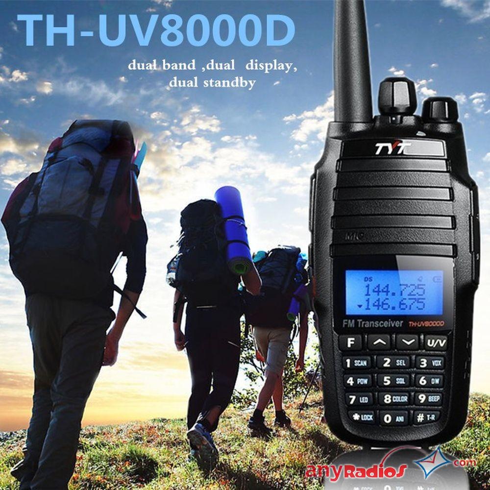 10W Max Dual Band Cross Repeat VHF+UHF Portable TYT TH-UV8000D Walkie Talkie