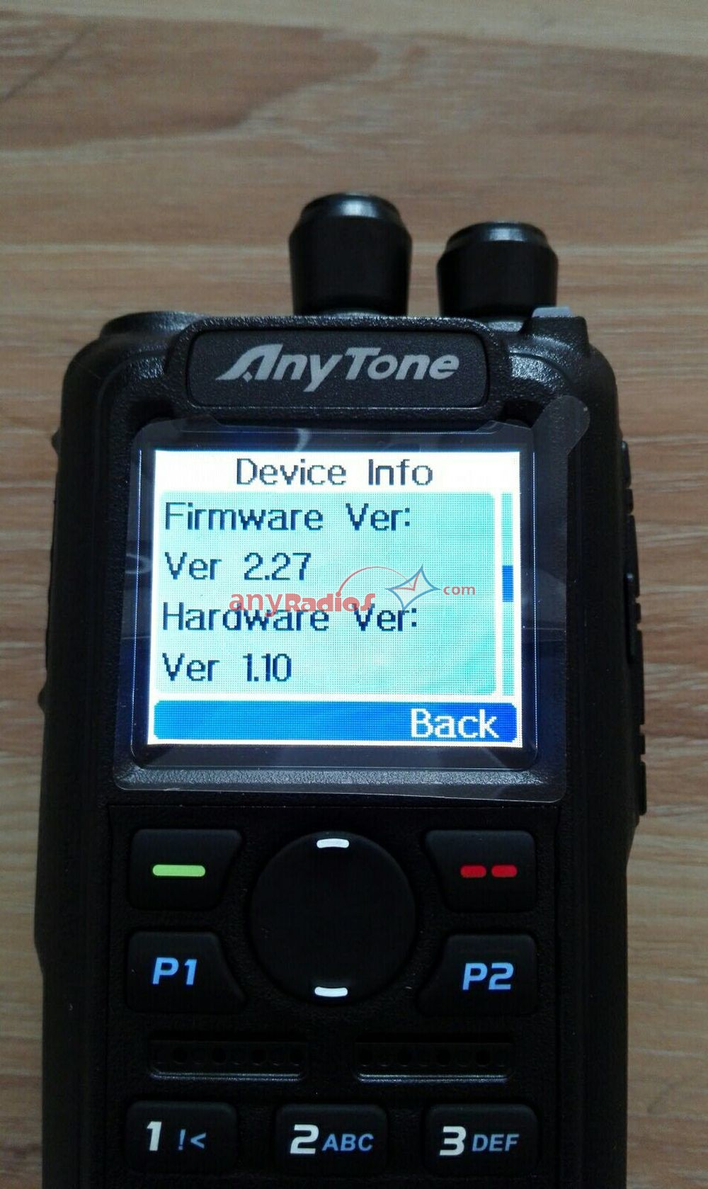 Anytone AT-D868UV GPS Dual Band DMR Walkie Talkie