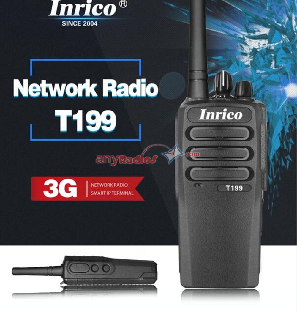 Inrico T199 3G Wifi GPS Android SIM Card GSM WCDMA Network Walkie Talkie