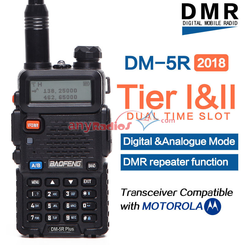 Baofeng DM-5R plus Digital Radio 2018 DMR Repeater Tier I & II Compatible  with Motorola