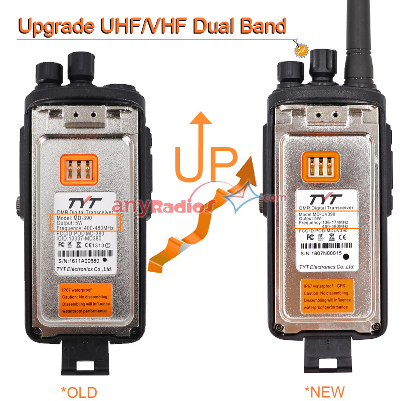 TYT MD 390 IP67 Waterproof TYT MD LCD Digital Two-way Radio GPS Transceiver US
