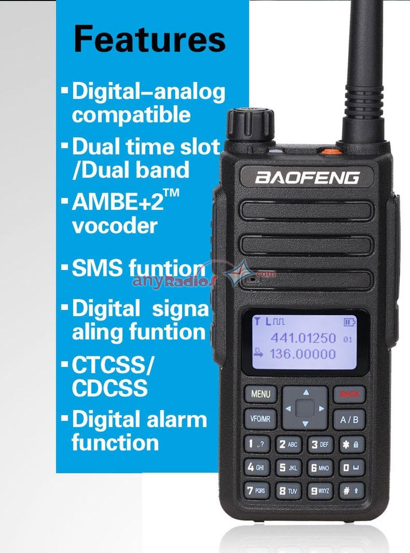 2PCS Pofung Baofeng 2019 Newest DM-1801 Digital Walkie Talkie Compatible  With Motorola
