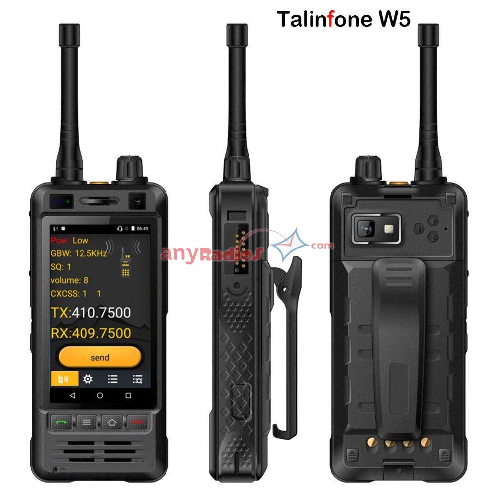 Talinfone W5 IP67 UHF Walkie Talkie 3G Android 6 0 GSM WCDMA Zello Phone