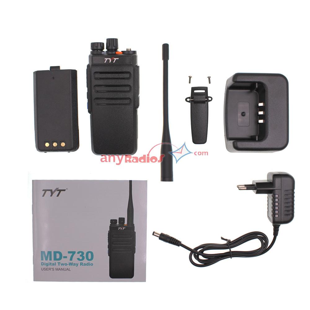 TYT MD-730 Dual Band DMR Radio - Walkie Talkie Two Way Radio